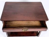 18th Century Mahogany 2 Tier Table with Single Drawer (3 of 8)