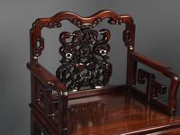 Pair of Chinese Qing Dynasty Hongmu Throne Chairs (5 of 12)