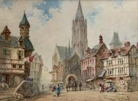 Pierre Le Boueff Pair of Watercolours - Continental Street Scenes (2 of 3)