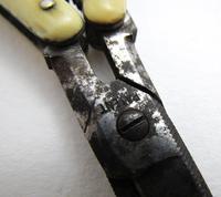 Antique Victorian Patent Pocket Folding Manicure Scissors, Carbon Steel c.1880 (5 of 7)