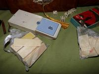 Solid Figured Oak Games Box + Accessories c.1890 (12 of 18)