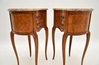 Pair of Antique French Marble Top Kidney Bedside Tables (9 of 12)
