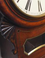 Rare Antique Drop Dial Wall Clock 8 Day Single Fusee Movement (10 of 13)