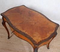 Serpentine Writing Table Louis XVI Style Inlaid Kingwood (14 of 19)