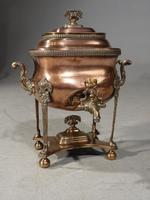 Handsome & Original Regency Period Copper Tea Urn