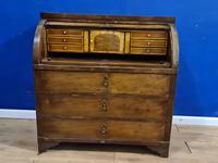 Biedermeir Mahogany Veneered Cylinder Bureau Desk 19th Century (5 of 14)