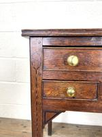 Early 19th Century Oak Side Table or Lowboy (4 of 10)