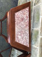 Pair of Oriental Chinese Marble Top Console Tables (5 of 12)