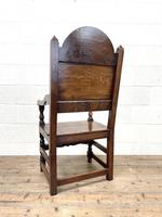 Pair of Antique Oak Throne Chairs (13 of 13)