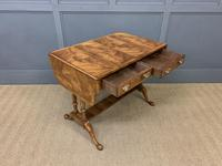Good Burr Walnut Sofa Table c.1900 (10 of 19)