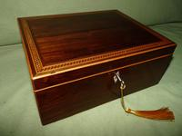 Georgian Inlaid Rosewood Jewellery / Table Box c.1825 (3 of 12)