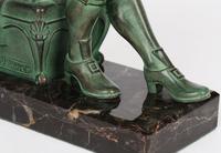 Max Le Verrier Pair Art Deco Patinated Bronze The Cobbler & The Financier Bookends (4 of 18)