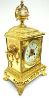 Fine French Ormolu Cubed Mantel Clock Classic 8 Day Striking Mantle Clock (7 of 10)