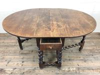 Antique 18th Century Welsh Oak Gateleg Table, Folding Table, Dining Table or Kitchen Table (3 of 12)