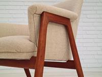 Danish 60s Design, Completely Reupholstered Armchair, Kvadrat Furniture Wool, Teak (9 of 11)