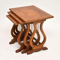 Antique Regency Style Figured Walnut Nest of Tables (3 of 12)