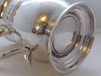 1934 Hallmarked Solid Silver 1/2 Pint Tankard Christening Mug Selfridge & Co (6 of 10)