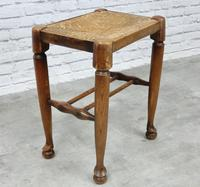 Rush Seated Antique Stool (2 of 4)