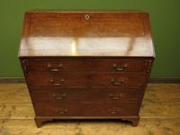 Antique George III Mahogany Writing Bureau Desk with Fall Front - Handsome Piece (9 of 16)