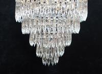 Italian Art Deco Five Tier Crystal Glass Chandelier - 1930s (5 of 6)