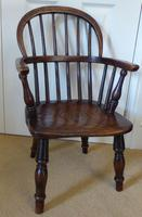 Victorian Ash & Elm Wood Childs Windsor Chair c.1840 (14 of 14)