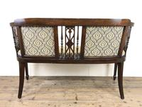 Antique Edwardian Mahogany Inlaid Parlour Sofa (15 of 15)
