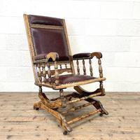 Antique Gentleman's Rocking Chair (2 of 9)