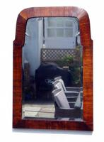 Small Early 20th Art Nouveau Rosewood Wall or Pad  Mirror (3 of 11)