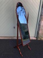 Antique Mahogany Cheval Dressing Mirror (2 of 9)