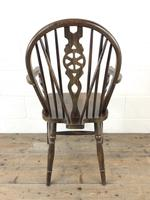 Set of Six 20th Century Wheelback Chairs including Two Carvers (20 of 20)