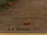Fine Quality Ornately Framed Oil on Canvas Entitled 'Sunday Best' by Victorian Artist Arthur Langley Vernon (5 of 6)