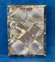 Victorian Abalone & Mother of Pearl Card Case (7 of 16)