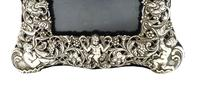 "Antique Edwardian Sterling Silver 8"" Photo Frame 1903 (6 of 11)"