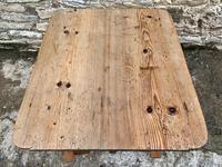 Antique Swedish Pine X-frame Trestle Table (7 of 21)