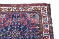"""Vintage / Retro Wool Rug Roughly 5'6"""" x 3' Eastern (5 of 7)"""