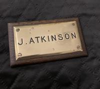 J Atkinson Nameplate