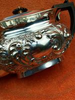 Antique Silver Plated Teapot JB Chatterley & Sons Ltd c.1920 (7 of 12)