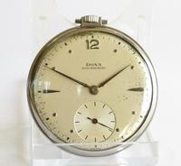 1930s Stainless Steel Doxa Pocket Watch & Chain (2 of 5)