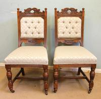 Antique Victorian Set of Eight Oak Dining Chairs (4 of 16)