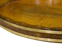 Antique Walnut Brass Bound Oval Tray (4 of 6)