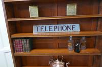 """Original GPO Glass """"TELEPHONE""""  sign from a Red Phone Box (5 of 6)"""