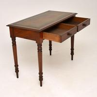 Antique Victorian Mahogany Leather Top Writing Table / Desk (7 of 9)
