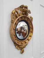 Antique Regency carved Convex Mirror c 1820 (2 of 6)