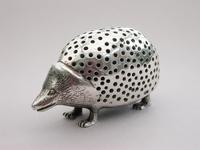 Edwardian Novelty Cast Silver Porcupine Pin Cushion (7 of 15)