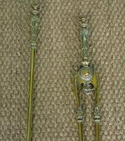 Antique Victorian Brass Fire Tools (2 of 4)