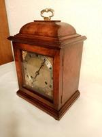 Burr Walnut Mantel Clock. Elliottt of London