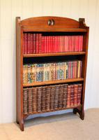 Solid Oak Open Bookcase c.1910 (2 of 5)