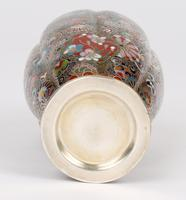 Oriental, Chinese / Japanese Exceptional Silver Metal Cloisonne Vase (14 of 25)