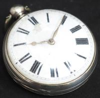 Antique ChrAntique Silver Open Case Pocket Watch Fusee Verge Escapement Key Wind F Hiahams Canterburyonograph Pocket Watch Sweeping Stop Start Seconds Hand Swiss Made Key Wind. (9 of 12)