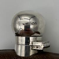 20th Century Modern Sterling Silver & Glass Hip Flask Sheffield 1937 James Dixon & Sons (5 of 9)
